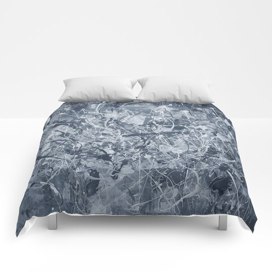 Abstract black painting Comforters