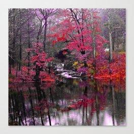 pink waterfall dreams  Canvas Print