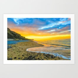Cromer Beach, U.K at Sunset Art Print