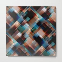 Textured multi-color geometric pattern. Metal Print