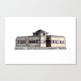 GALLERY SQUARE CHALET Canvas Print