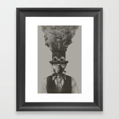 MR STEAMPUNK Framed Art Print