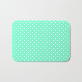 Dots (White/Aquamarine) Bath Mat