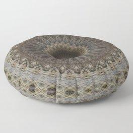 Mandala in warm brown and gray tones Floor Pillow