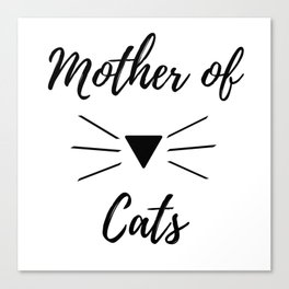 Mother of Cats Canvas Print