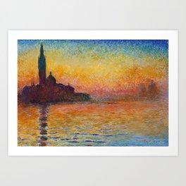 San Giorgio Maggiore by Twilight by Claude Monet Art Print