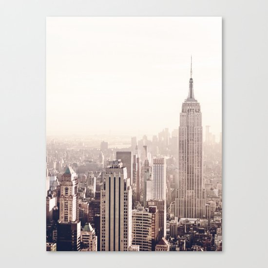 New York City Above the Cityscape Canvas Print