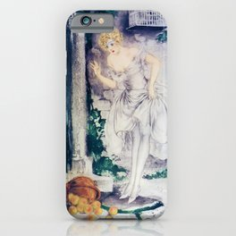 Louis Icart - Hunting - The Overturned Basket - Digital Remastered Edition iPhone Case