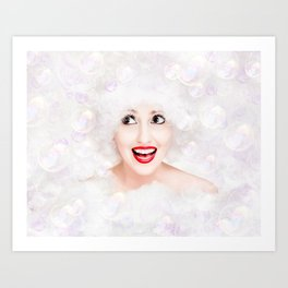 It's Bubble Time! Art Print