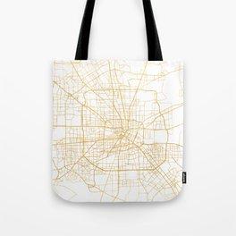 HOUSTON TEXAS CITY STREET MAP ART Tote Bag