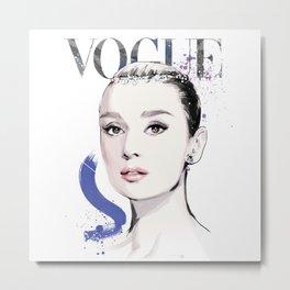 Vogue Fashion Illustration #17 Metal Print