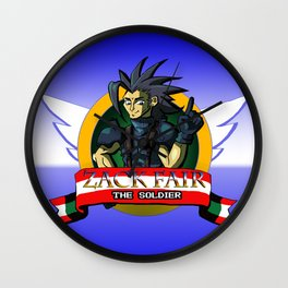 Zack Fair the Soldier  Wall Clock