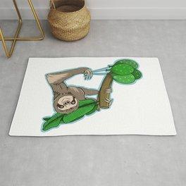 Birthday sloth Rug