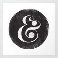 ampersand Art Prints featuring AMPERSAND by Matthew Taylor Wilson