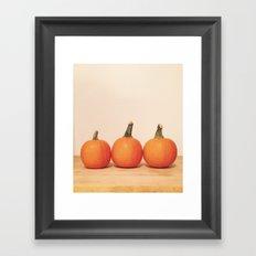 Pumpkin Trio Framed Art Print