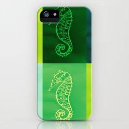 Green Seahorses iPhone Case