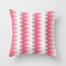 Chevron Pink & Grey Throw Pillow