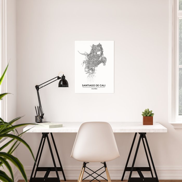 City map // Cali Colombia Poster