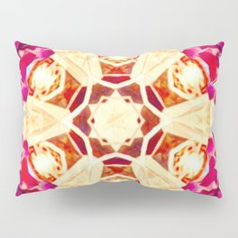 Psychedelic Mandala (Red/Gold) Pillow Sham