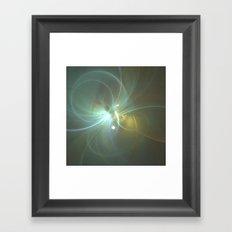 Holiday Glow Fractal Framed Art Print