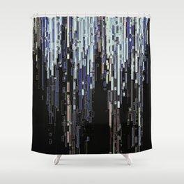 Ice Pixels Shower Curtain