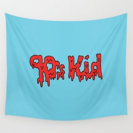90s Kids -- Blue Wall Tapestry
