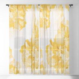 Beautiful Peony Flowers White Background #decor #society6 #buyart Sheer Curtain