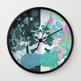 Ocean Duality Wall Clock