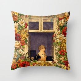 Flower Garden Throw Pillow