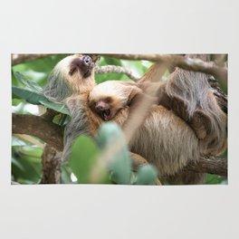 Yawning Baby Sloth - Cahuita Costa Rica Rug