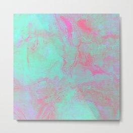Teal Pink Metal Print