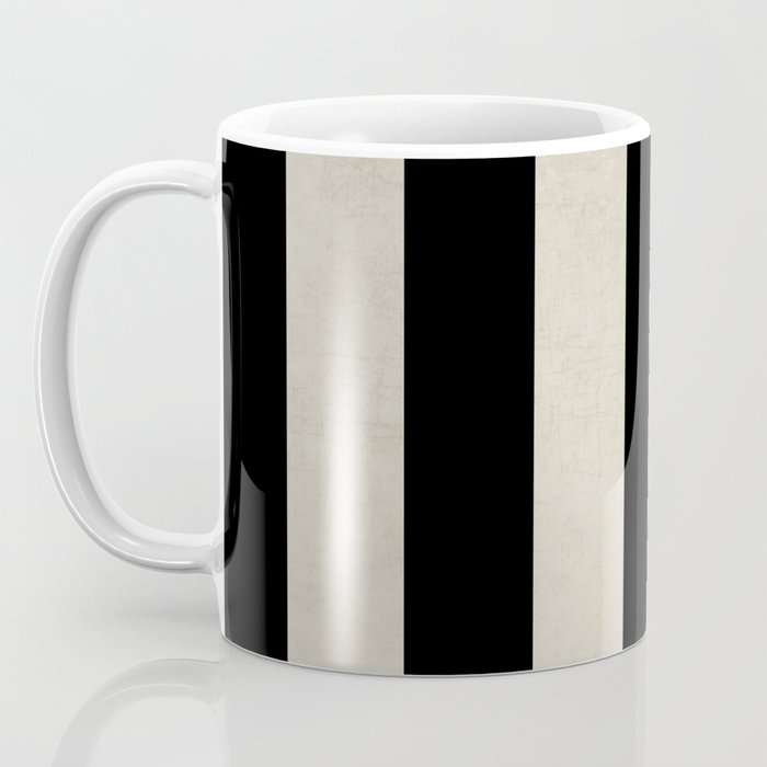 vintage black stripes Coffee Mug