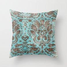 Ornate Vintage Distress Design 3 Throw Pillow