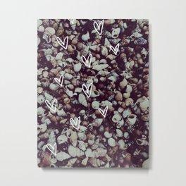 charcoal seashell pattern Metal Print