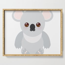 Funny cute koala Serving Tray