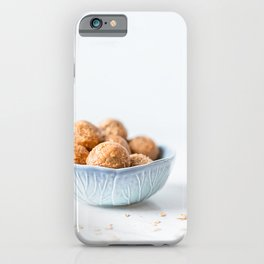 Oatmeal Granola Homemade Snack Balls, Food Photography Cuisine Print, Morning Energy Breakfast, Natural Light iPhone Case