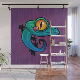 Colorful Gecko Wall Mural