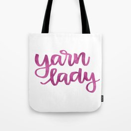 Yarn Lady - Fuchsia Tote Bag