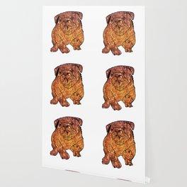 Gold Bulldog Fenc Buldog Wallpaper