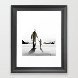 Lone Wolf & Bub Framed Art Print