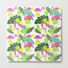 Flocks of Flamingos Metal Print
