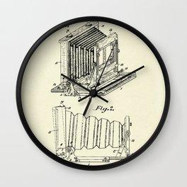 Folding Photographic Camera-1904 Wall Clock