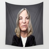 melissa smith Wall Tapestries featuring Celebrity Sunday ~ Patti Smith by rob art | illustration