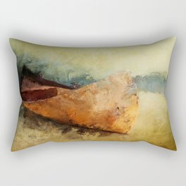 BIRCH BARK CANOE AT REST Rectangular Pillow