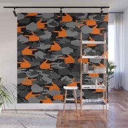 Handy Camo ORANGE Wall Mural
