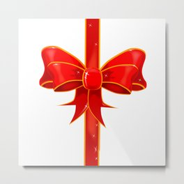 Pretty Ribbon Bow Metal Print