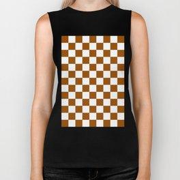 Checker (Brown/White) Biker Tank