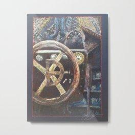 Indiana Girl Speedboat Metal Print