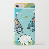 scuba iPhone & iPod Cases featuring Scuba Divers by Jack Hornady Illustrations