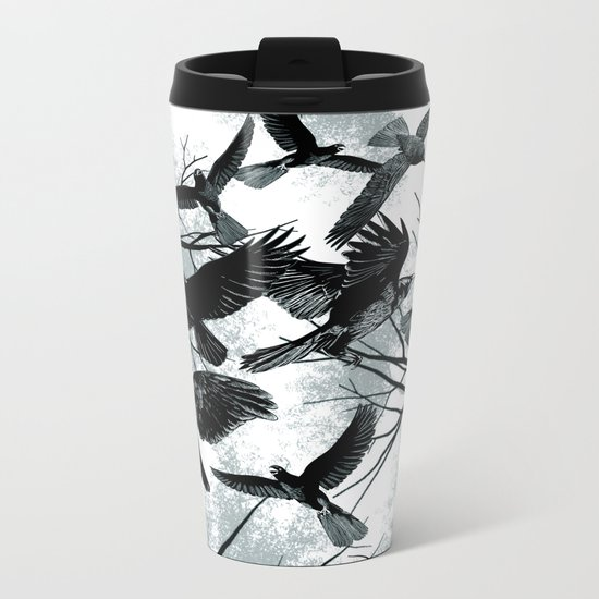 Blackbirds Metal Travel Mug